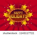 beautiful greeting card...   Shutterstock .eps vector #1143117722
