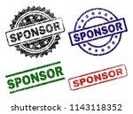 sponsor seal prints with...   Shutterstock .eps vector #1143118352