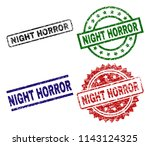 night horror seal imprints with ... | Shutterstock .eps vector #1143124325