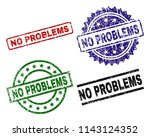 no problems seal prints with...   Shutterstock .eps vector #1143124352