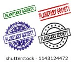 planetary society seal stamps... | Shutterstock .eps vector #1143124472