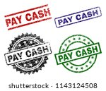 pay cash seal prints with... | Shutterstock .eps vector #1143124508