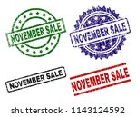 november sale seal prints with... | Shutterstock .eps vector #1143124592