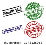 january sale seal prints with... | Shutterstock .eps vector #1143126068