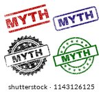 myth seal prints with corroded... | Shutterstock .eps vector #1143126125