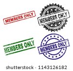 members only seal stamps with... | Shutterstock .eps vector #1143126182