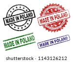 made in poland seal prints with ... | Shutterstock .eps vector #1143126212