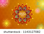 great indian diwali festival... | Shutterstock .eps vector #1143127082