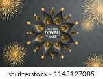 great indian diwali festival... | Shutterstock .eps vector #1143127085