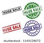 huge sale seal prints with... | Shutterstock .eps vector #1143128072
