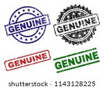 genuine seal prints with... | Shutterstock .eps vector #1143128225