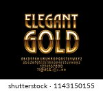 vector elegant gold luxury... | Shutterstock .eps vector #1143150155