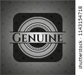 genuine realistic dark emblem | Shutterstock .eps vector #1143154718