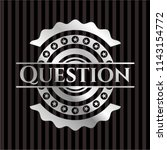 question silvery emblem or badge | Shutterstock .eps vector #1143154772