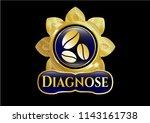 golden badge with coffee bean... | Shutterstock .eps vector #1143161738