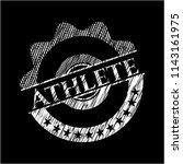 athlete with chalkboard texture   Shutterstock .eps vector #1143161975