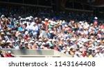 Crowd Blurred In Grandstand
