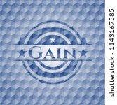 gain blue polygonal emblem. | Shutterstock .eps vector #1143167585