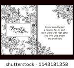 romantic wedding invitation... | Shutterstock .eps vector #1143181358