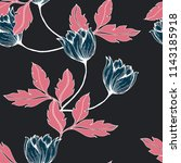 elegance pattern with flowers... | Shutterstock .eps vector #1143185918