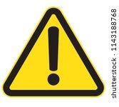 danger sign  warning sign ... | Shutterstock .eps vector #1143188768