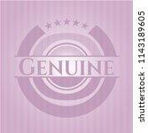 genuine pink emblem. retro | Shutterstock .eps vector #1143189605