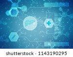 medical abstract background | Shutterstock . vector #1143190295