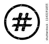hashtag sign icon vector... | Shutterstock .eps vector #1143191855