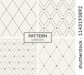 set of four seamless patterns.... | Shutterstock .eps vector #1143193892