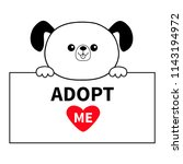 adopt me. dog head face hanging ... | Shutterstock .eps vector #1143194972
