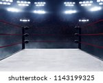 professional boxing ring  | Shutterstock . vector #1143199325