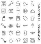 thin line vector icon set  ... | Shutterstock .eps vector #1143200498