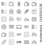 thin line vector icon set  ... | Shutterstock .eps vector #1143201128