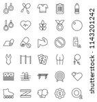 thin line vector icon set  ... | Shutterstock .eps vector #1143201242