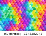 rainbow color triangle pattern... | Shutterstock .eps vector #1143202748