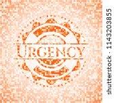 urgency orange mosaic emblem... | Shutterstock .eps vector #1143203855