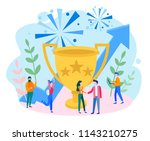 concept business growth with...   Shutterstock .eps vector #1143210275