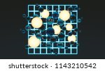 balls with balls of light and... | Shutterstock . vector #1143210542