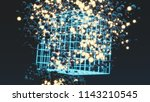 balls with balls of light and... | Shutterstock . vector #1143210545