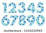 arabic numerals  painted with a ... | Shutterstock .eps vector #1143210965