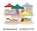 world marketplace   bazaar image | Shutterstock .eps vector #1143211775