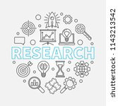 research round outline vector... | Shutterstock .eps vector #1143213542