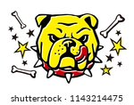 english bulldog vector... | Shutterstock .eps vector #1143214475