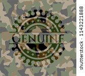 genuine on camouflaged pattern | Shutterstock .eps vector #1143221888
