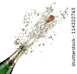 close up of champagne explosion | Shutterstock . vector #114322765