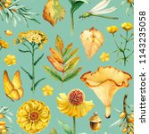 summer seamless pattern with...   Shutterstock . vector #1143235058