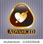 gold badge or emblem with... | Shutterstock .eps vector #1143235628