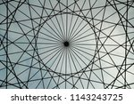 circular shaped metallic... | Shutterstock . vector #1143243725