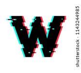 modern vector logo letter w. w...   Shutterstock .eps vector #1143244985