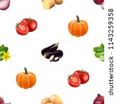 seamless pattern with... | Shutterstock .eps vector #1143259358